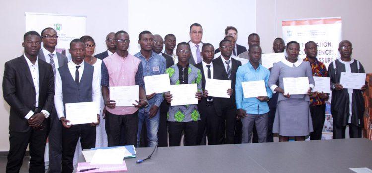 15 stagiaires ivoiriens reçoivent leur attestation de fin de formation au Maroc