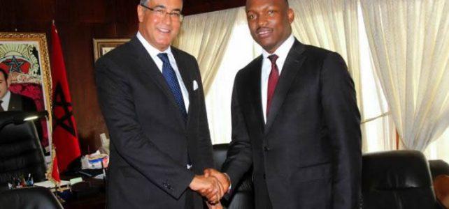 Construction du complexe Mohamed VI de Yopougon : Mamadou Touré et l'ambassadeur du Maroc font le point.