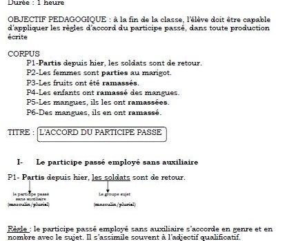 COURS FRANCAIS-3 3ème année CAP