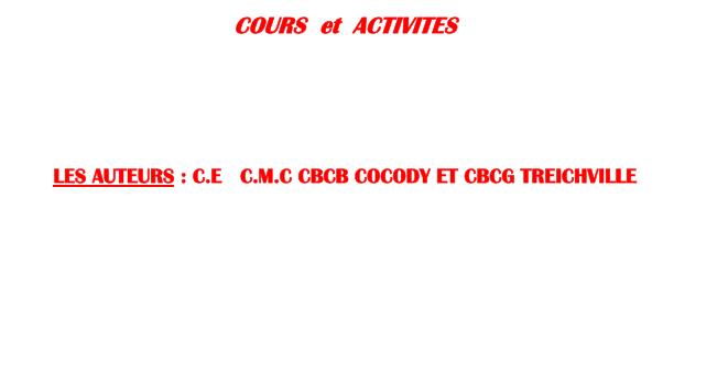 Cours de CMC 2ème année BT TERTIAIRE
